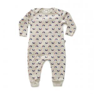 Oeuf Baby Clothes - L111322403 - Combinaison chats et arcs-en-ciel en coton biologique grise - 2400 (364710)