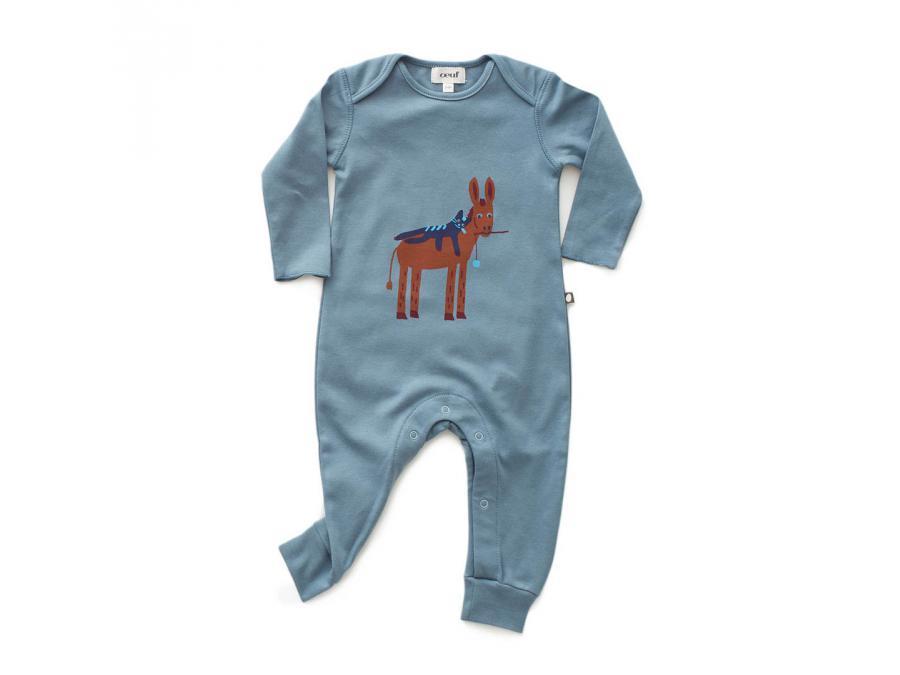 Oeuf Baby Clothes - Combinaison âne en coton biologique ...