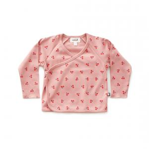 Oeuf Baby Clothes - L107375112 - Haut kimono cerises rose en coton biologique - 1800 (364718)