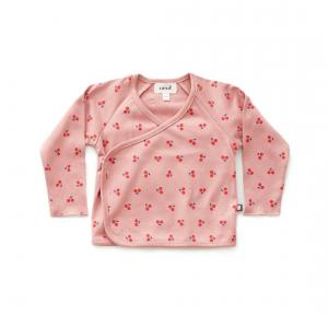 Oeuf Baby Clothes - L107375106 - Haut kimono cerises rose en coton biologique - 1800 (364720)
