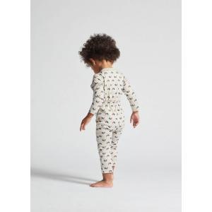 Oeuf Baby Clothes - L107322412 - Haut kimono gris chats et arcs-en-ciel en coton biologique 6/12M (364724)
