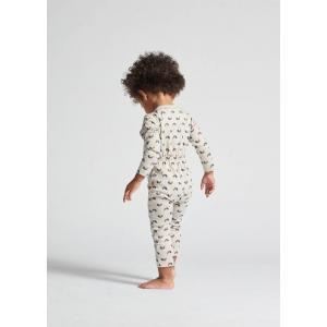 Oeuf Baby Clothes - L107322403 - Haut kimono gris chats et arcs-en-ciel en coton biologique 0/3M (364728)