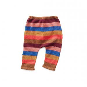 Oeuf Baby Clothes - K11917170012 - Pantalon rayé multicolore en Alapaga 12M (364748)