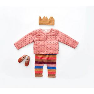 Oeuf Baby Clothes - K11917170006 - Pantalon rayé multicolore en Alpaga 6M (364750)