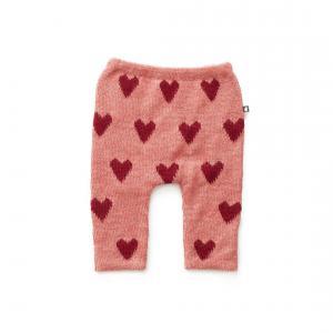 Oeuf Baby Clothes - K11917151218 - Pantalon en Alapaga rose avec cœurs rouges 18M (364752)