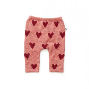 Oeuf Baby Clothes - K11917151206 - Pantalon en Alapaga rose avec cœurs rouges 6M (364758)