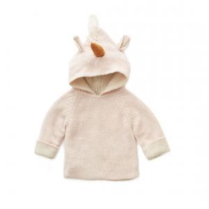 Oeuf Baby Clothes - K10317141920 - Pull à Capuche rose licorne en Alpaga 24M (364774)