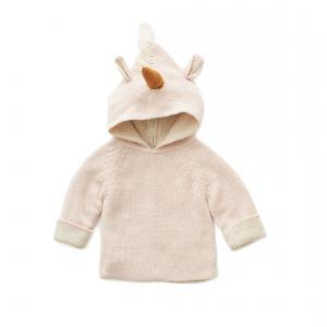 Oeuf Baby Clothes - K10317141918 - Pull à Capuche rose licorne en Alpaga 18M (364778)