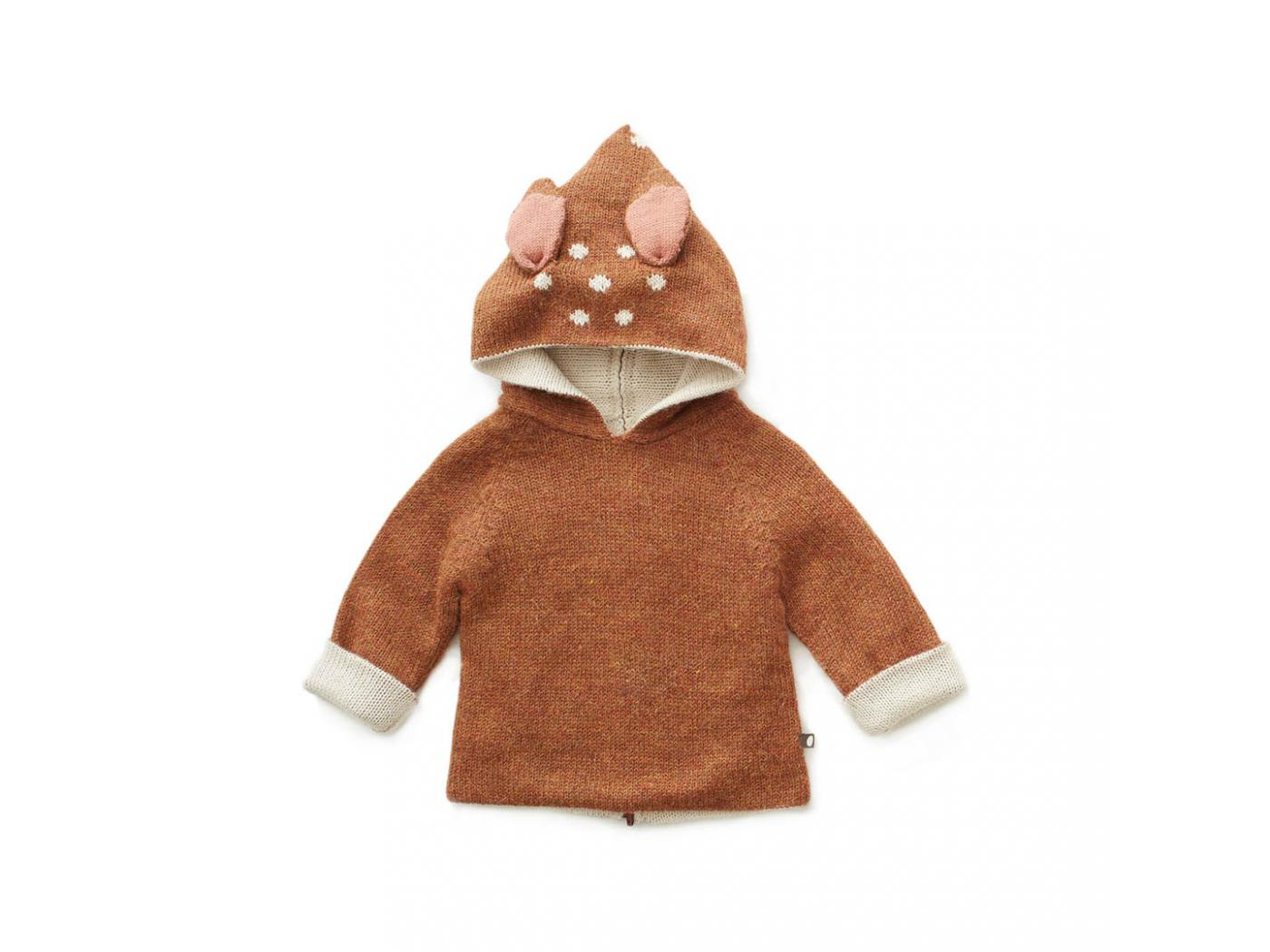 Oeuf Baby Clothes Pull 224 Capuche Noisette Bambi En
