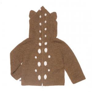 Oeuf Baby Clothes - K10315240006 - Pull à Capuche noisette Bambi en Alpaga 6M (364788)