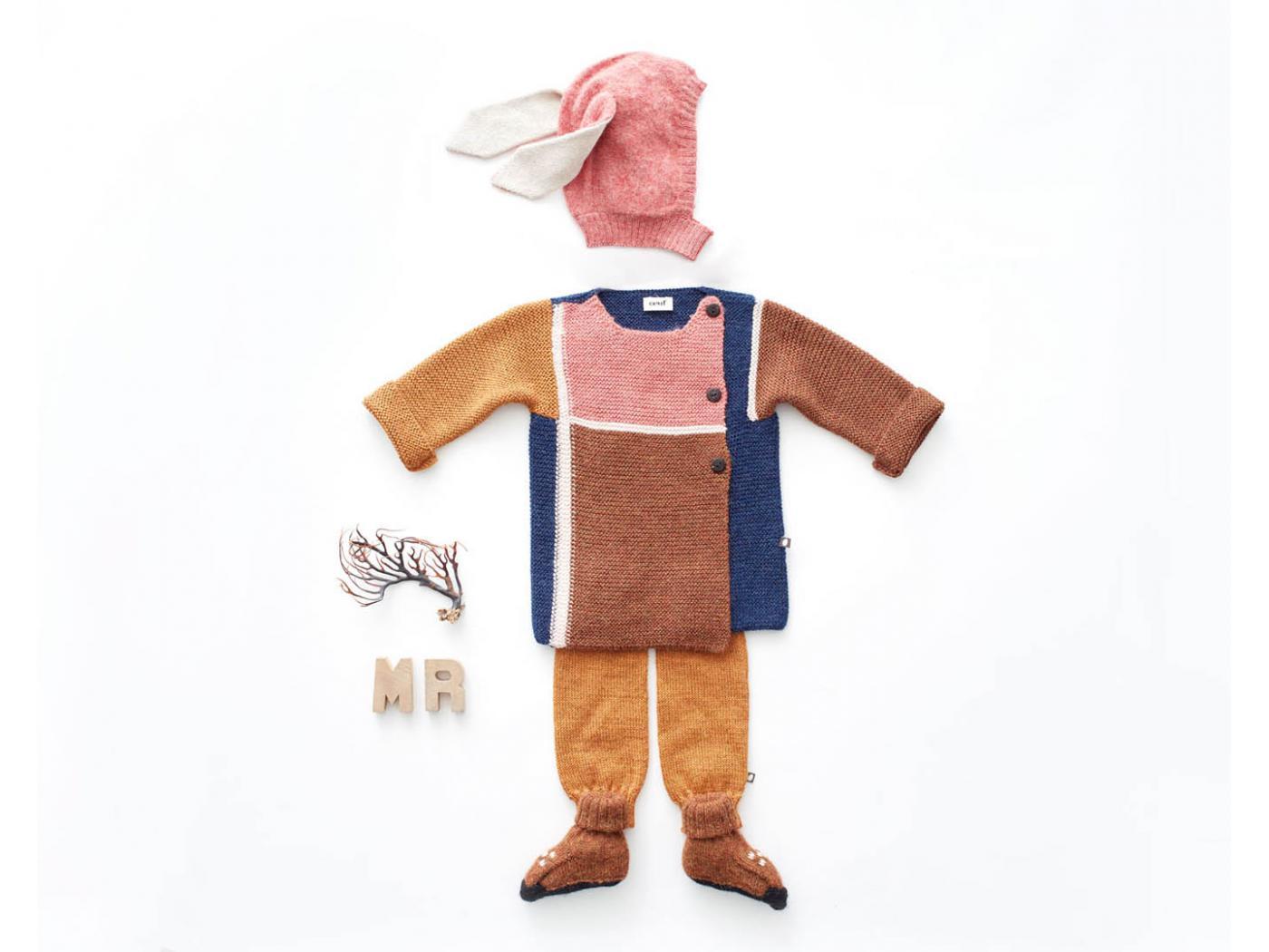 Oeuf Baby Clothes Cagoule Rose Lapin En Alpaga 6 12m