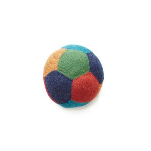 Oeuf Baby Clothes - G12617010799 - Coussin Ballon de foot bleu et multicolore en alpaga (364814)