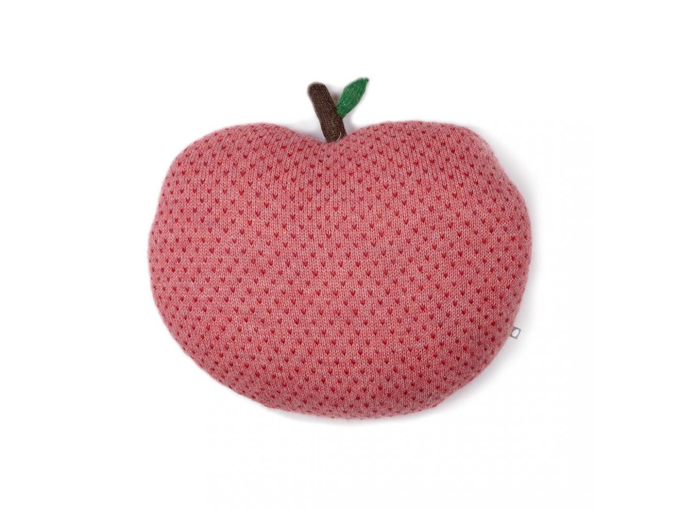 Oeuf Baby Clothes Coussin Pomme Rouge Et Rose En Alpaga