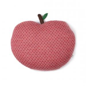 Oeuf Baby Clothes - G10017150399 - Coussin pomme rouge et rose en alpaga (364816)