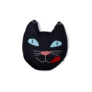 Oeuf Baby Clothes - G10616169999 - Coussin chat noir en alpaga (364820)