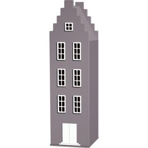 Kast Van Een Huis - EK67170-9 - Armoire Amsterdam toiture escalier marron glacé - 198 x 55 x 55 cm (364822)