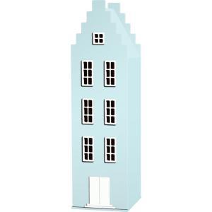 Kast Van Een Huis - EK67170-8 - Armoire Amsterdam toiture escalier bleu pastel - 198 x 55 x 55 cm (364824)