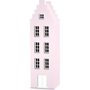 Kast Van Een Huis - EK67170-7 - Armoire Amsterdam toiture escalier rose pastel - 198 x 55 x 55 cm (364826)