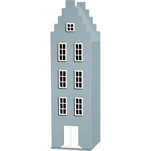 Kast Van Een Huis - EK67170-6 - Armoire Amsterdam toiture escalier bleu pétrole - 198 x 55 x 55 cm (364828)