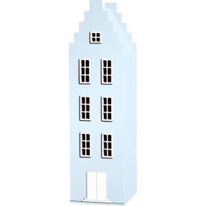 Kast Van Een Huis - EK67170-5 - Armoire Amsterdam toiture escalier bleu pastel - 198 x 55 x 55 cm (364830)