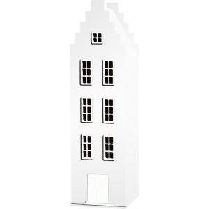 Kast Van Een Huis - EK67170-4 - Armoire Amsterdam toiture escalier blanc - 198 x 55 x 55 cm (364832)