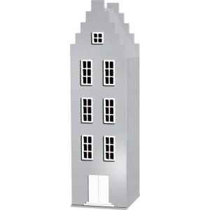 Kast Van Een Huis - EK67170-3 - Armoire Amsterdam toiture escalier argenté - 198 x 55 x 55 cm (364834)