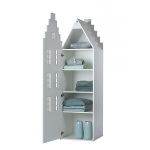 Kast Van Een Huis - EK67170-3 - Armoire enfant Amsterdam - toit Escalier argenté (364834)