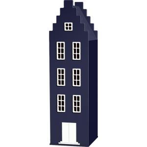 Kast Van Een Huis - EK67170-10 - Armoire Amsterdam toiture escalier bleu nuit - 198 x 55 x 55 cm (364836)