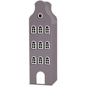Kast Van Een Huis - EK67162-9 - Armoire Amsterdam toiture cloche marron glacé - 198 x 55 x 55 cm (364838)
