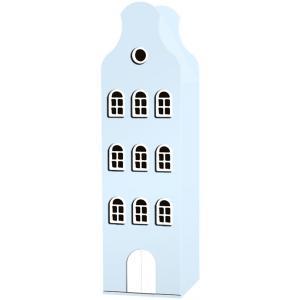 Kast Van Een Huis - EK67162-8 - Armoire Amsterdam toiture cloche bleu pastel - 198 x 55 x 55 cm (364840)