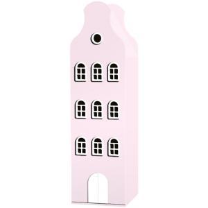 Kast Van Een Huis - EK67162-7 - Armoire Amsterdam toiture cloche rose pastel - 198 x 55 x 55 cm (364842)
