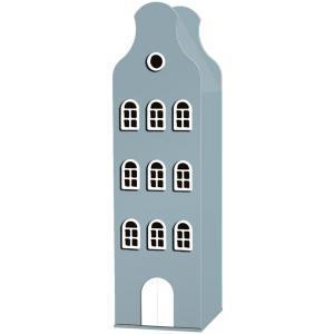 Kast Van Een Huis - EK67162-6 - Armoire Amsterdam toiture cloche bleu pétrole - 198 x 55 x 55 cm (364844)