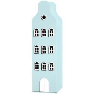Kast Van Een Huis - EK67162-5 - Armoire Amsterdam toiture cloche bleu pastel - 198 x 55 x 55 cm (364846)