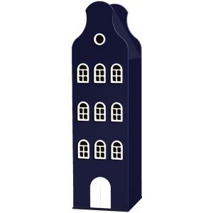 Kast Van Een Huis - EK67162-10 - Armoire Amsterdam toiture cloche bleu nuit - 198 x 55 x 55 cm (364848)