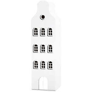 Kast Van Een Huis - EK67162-4 - Armoire Amsterdam toiture cloche blanc - 198 x 55 x 55 cm (364852)