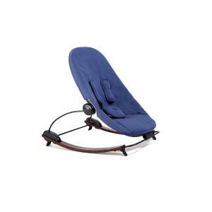 Bloom - E10608-CNBO-11-BKS - Transat Coco go base marron et siège en coton bio bleu marine  - 71 x 13 x 49,5 cm (365868)