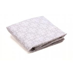 Bloom - E10815-FG-11-ATL - 2 Draps housse pour berceau Alma mini en coton bio gris clair - 41,8 x 33,8 x 27,3 cm (365902)