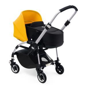 Bugaboo - BU104 - Poussette bugaboo bee5 Alu, nacelle et siège noir, capote jaune solaire (366102)