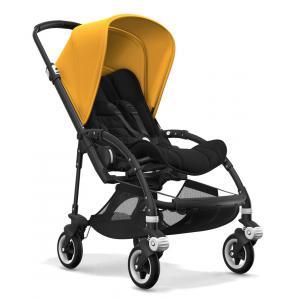 Bugaboo - BU109 - Nouvelle poussette bugaboo bee 5 avec capote jaune solaire chassis noir (366112)