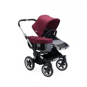 Bugaboo - 180150GR01 - Poussette Donkey2  mono complète ALU / GRIS CHINE / ROUGE RUBIS (366328)