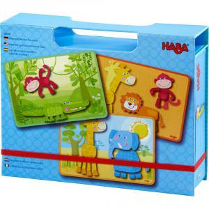 Haba - 303387 - Boîte de jeu magnétique Le safari des animaux (366806)