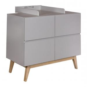 Quax - 54034224-E - Extension plan à langer pour commode Trendy - gris (367008)