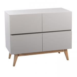 Quax - 54034224-4D - Commode 4 tiroirs Trendy - gris (367010)