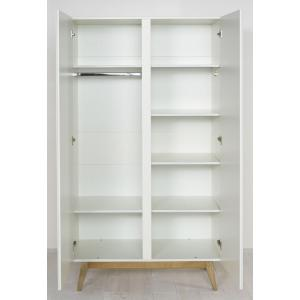 Quax - 54044622 - Armoire 2 portes Trendy - blanc (367046)