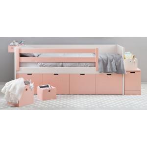 Asoral - 3634 - Lit banquette enfant surélevé BOX 4 tiroirs de rangements - Liso - 90*200*88 (367294)