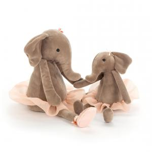 Jellycat - DDS6E - Peluche Elephant Dansant Darcey  Petit - 23 cm (367646)