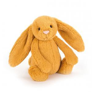 Jellycat - BASS6SF - Peluche lapin Bashful Saffron jaune - L = 8 cm x l = 9 cm x H =18 cm (367714)