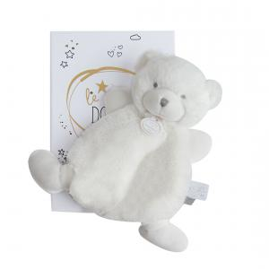 Doudou et compagnie - DC3265 - Le doudou - doudou ours blanc - 19 cm - boîte led (367944)