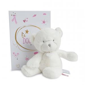 Doudou et compagnie - DC3272 - Le doudou - pantin ours rose 26 cm - boîte led (367958)