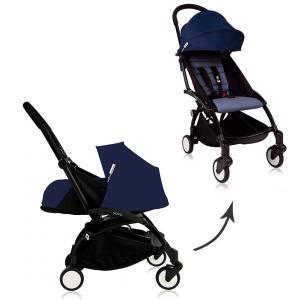 Babyzen - Bu082 - Pousette  Yoyo plus complète cadre noir habillages 0+ et 6+ Bleu Air France (368014)